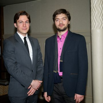 Wolak with Maxime Goulet after the premiere - Photo credit: Annette B. Woloshen